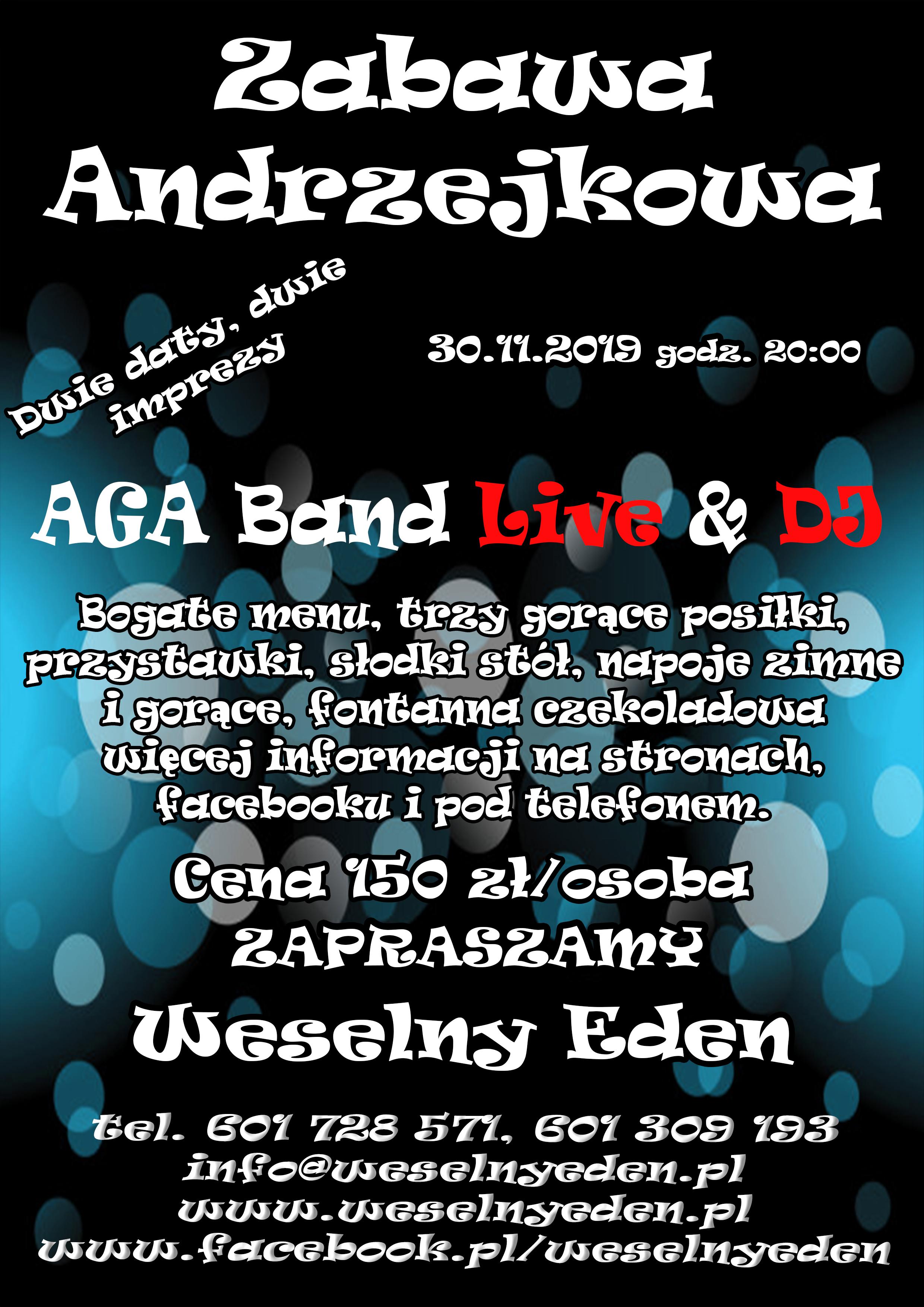 II Zabawa Andrzejkowa 30-11-2019 Weselny Eden